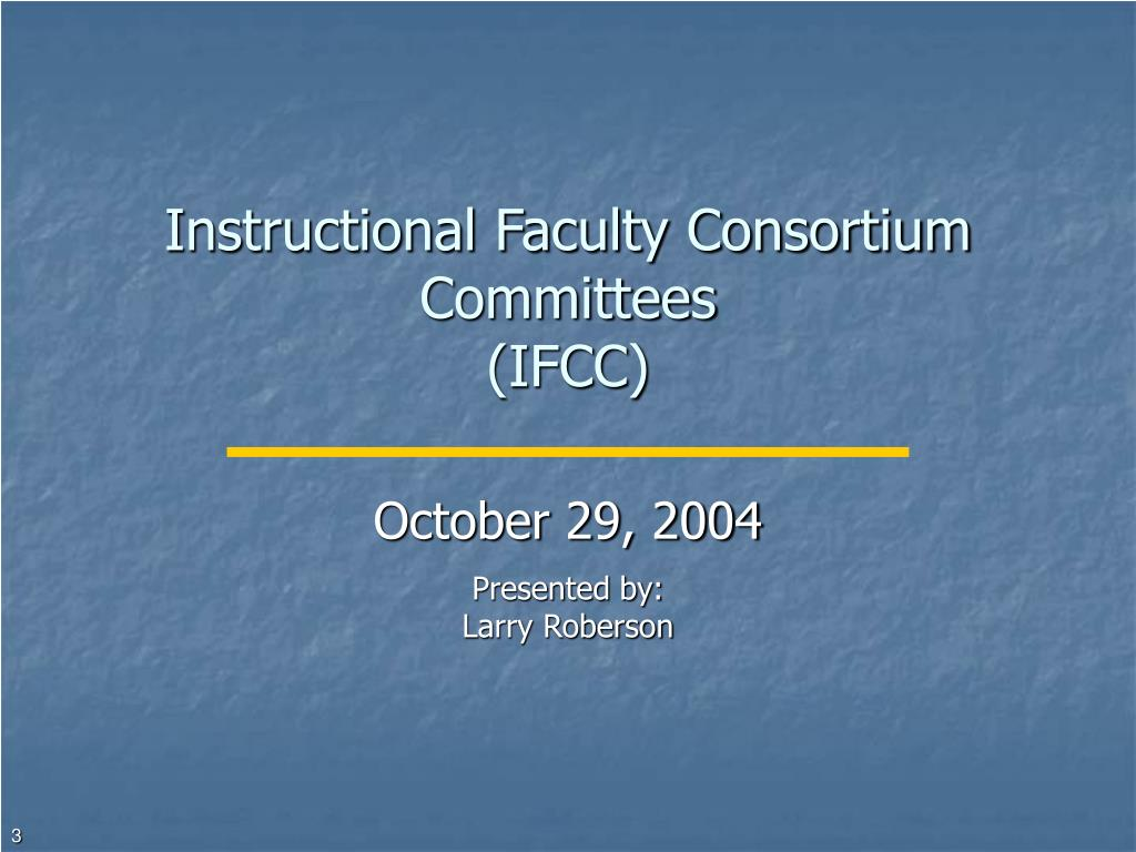 Instructional Faculty Consortium Committees