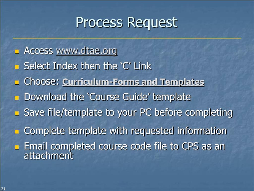 Process Request