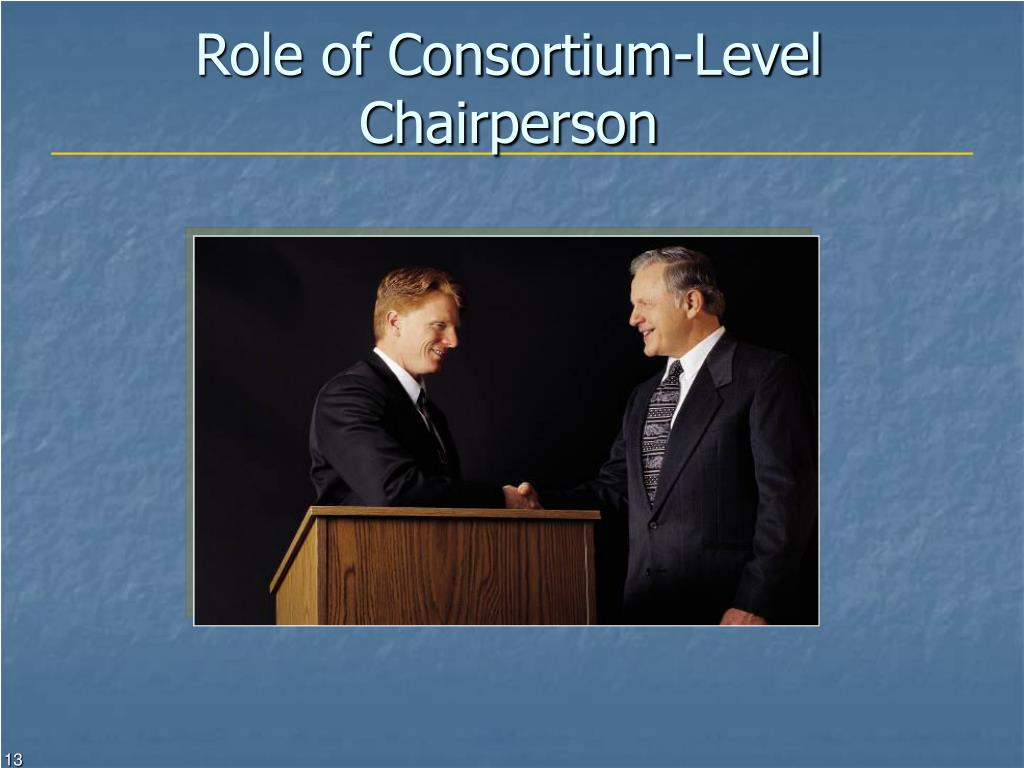 Role of Consortium-Level Chairperson