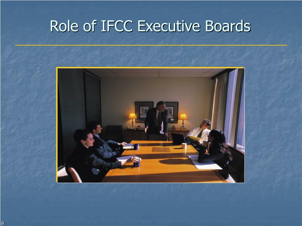 Role of IFCC Executive Boards