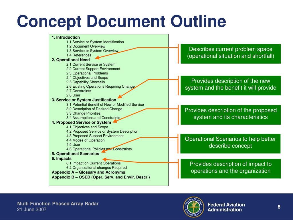 Concept Document Outline