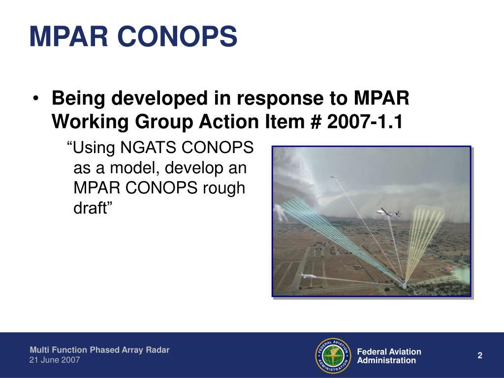 MPAR CONOPS