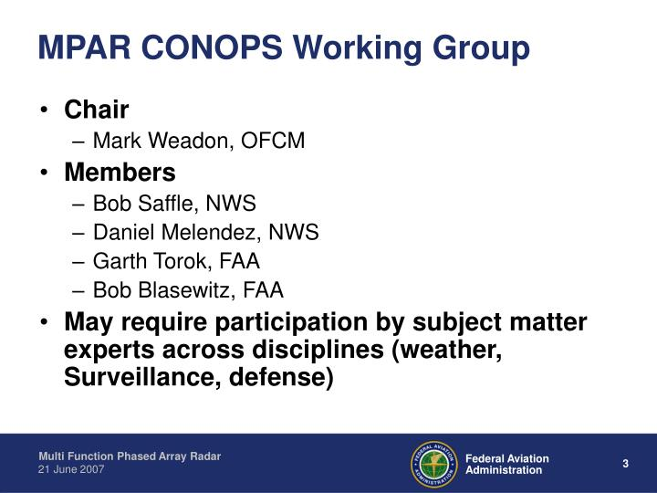 Mpar conops working group