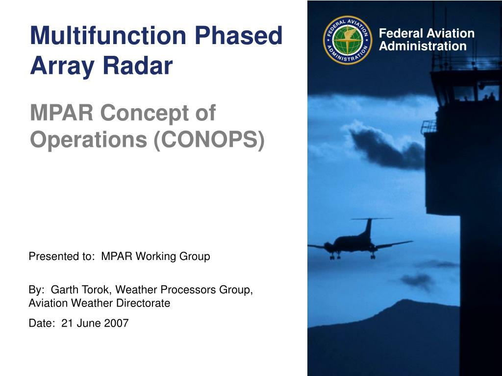 Multifunction Phased Array Radar