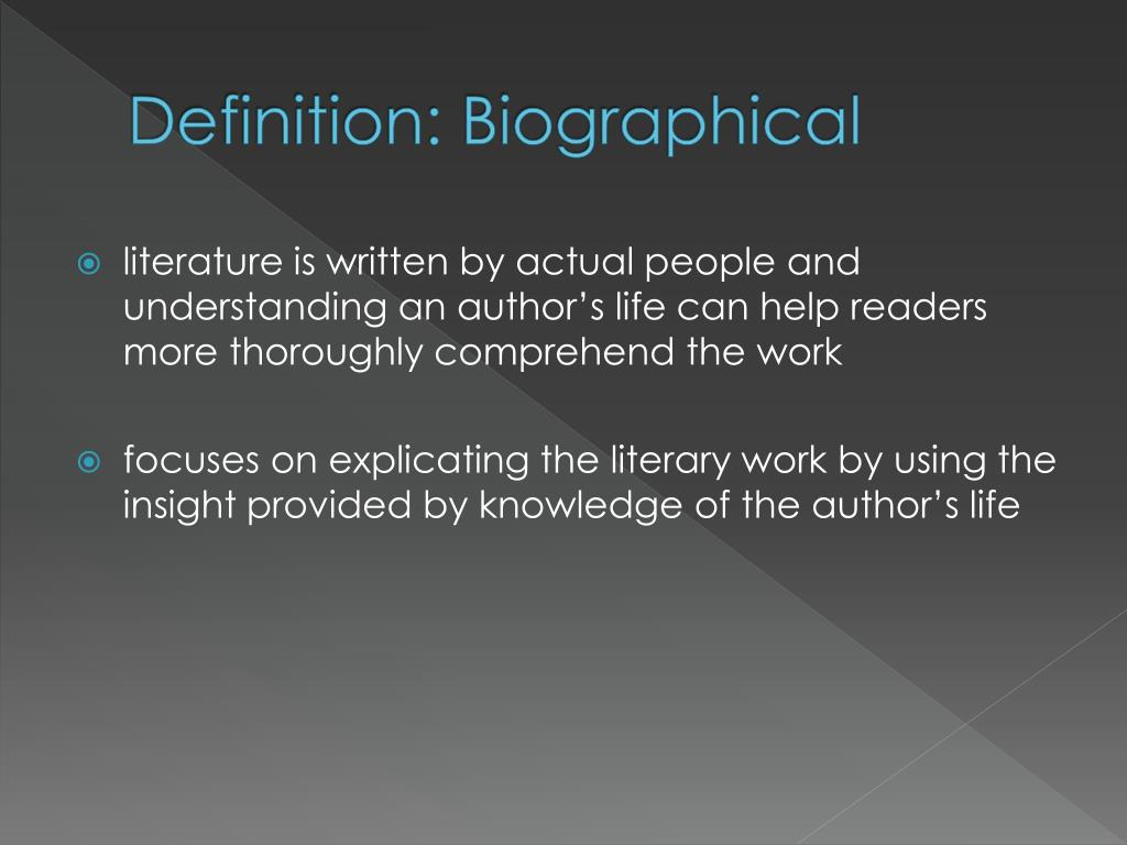 Definition: Biographical