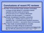 conclusions of recent pc reviews