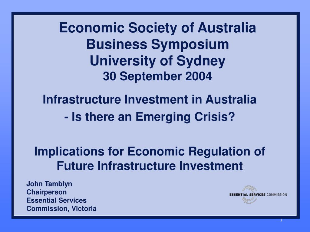 economic society of australia business symposium university of sydney 30 september 2004 l.