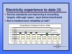electricity experience to date 3