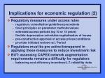 implications for economic regulation 2