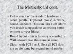 the motherboard cont14