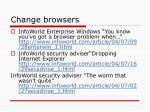 change browsers