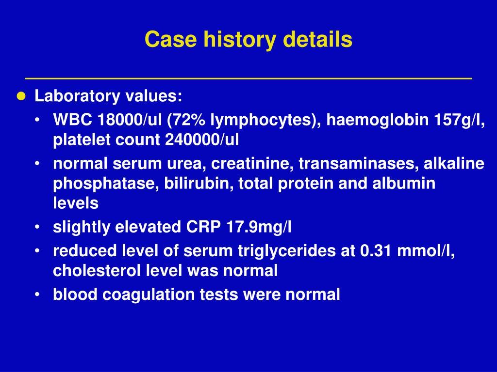 Case history details