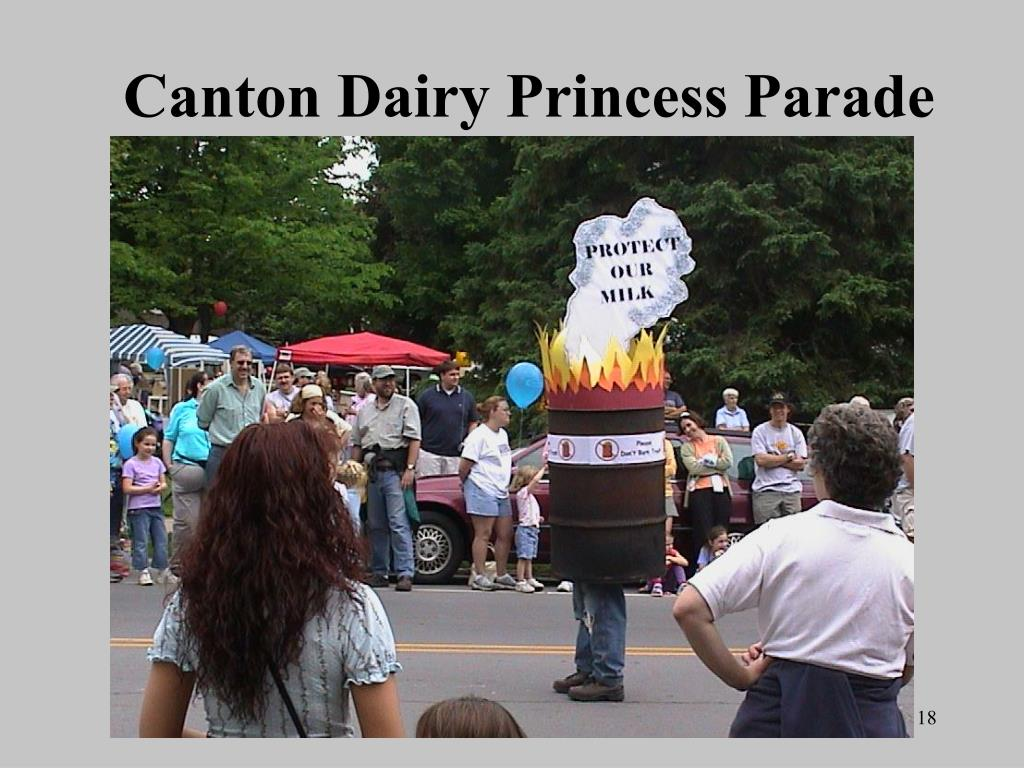 Canton Dairy Princess Parade