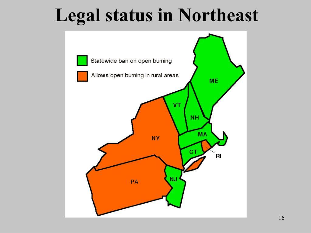 Legal status in Northeast