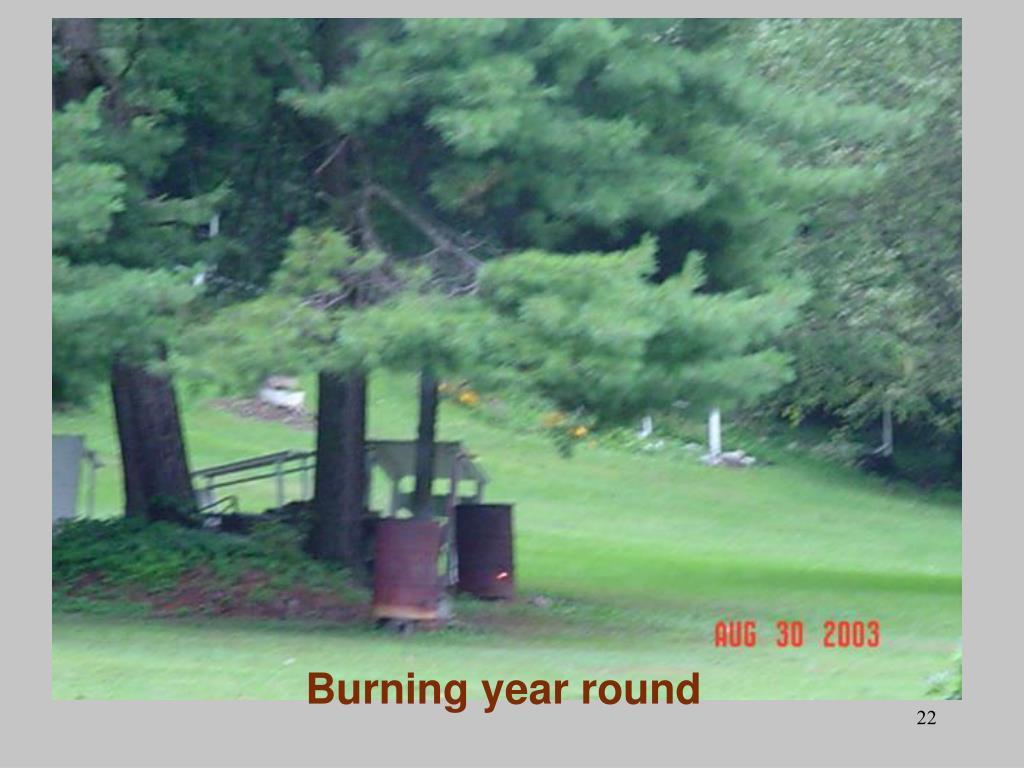 Burning year round