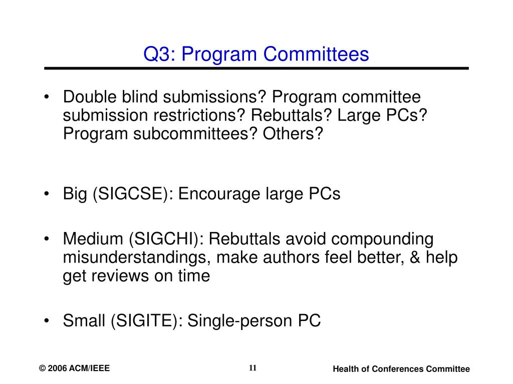 Q3: Program Committees