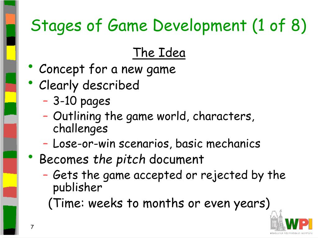 Stages of Game Development (1 of 8)