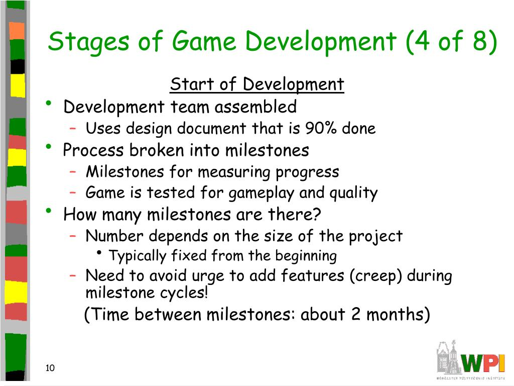 Stages of Game Development (4 of 8)