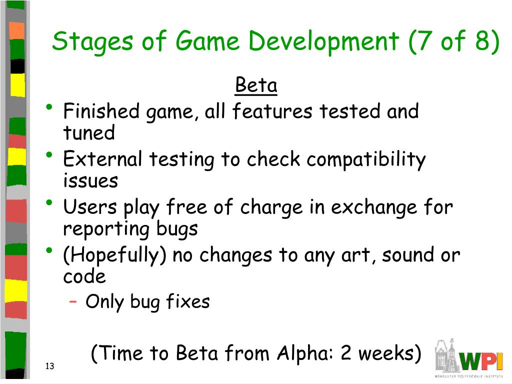 Stages of Game Development (7 of 8)