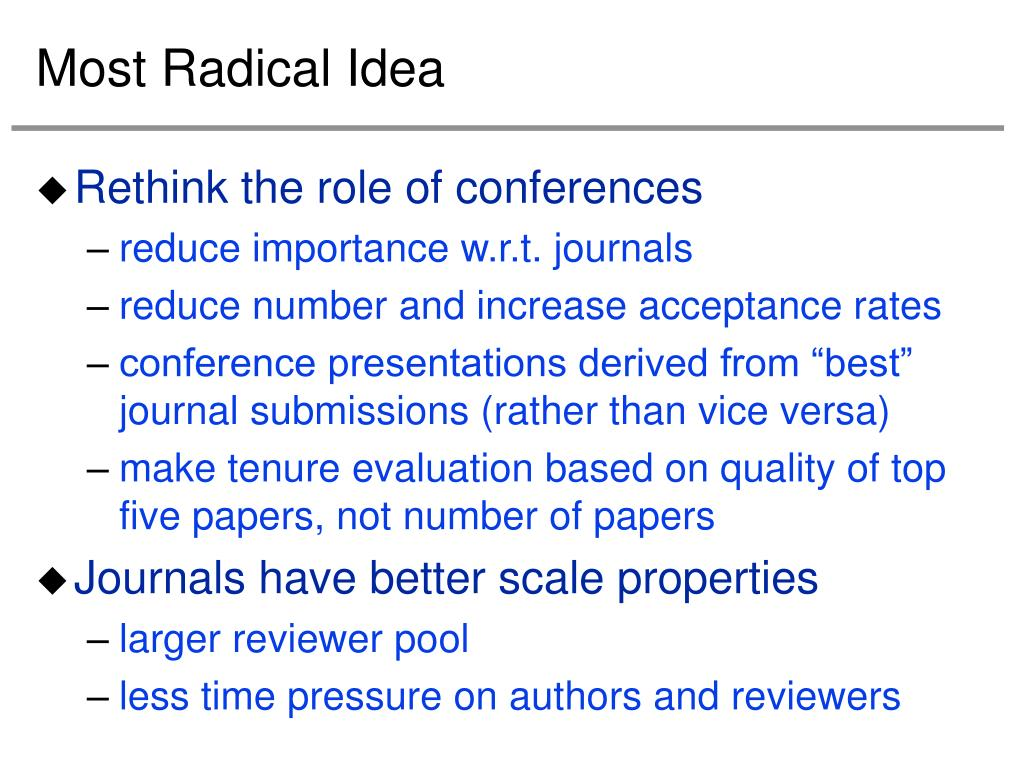 Most Radical Idea