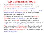 key conclusions of wg ii