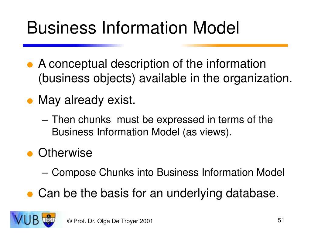 Business Information Model