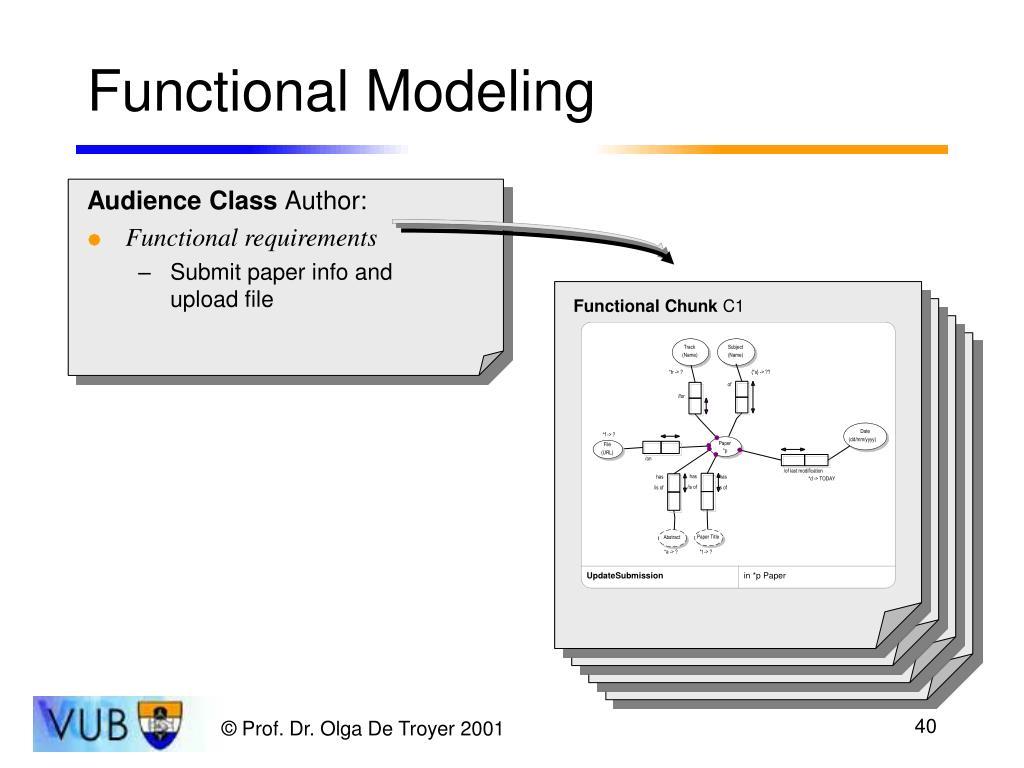 Functional Modeling