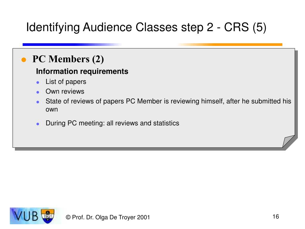 Identifying Audience Classes step 2 - CRS (5)