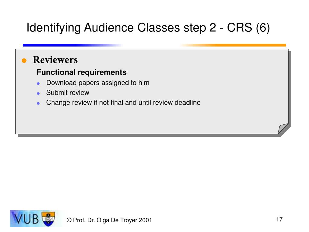 Identifying Audience Classes step 2 - CRS (6)