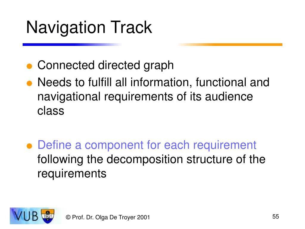 Navigation Track