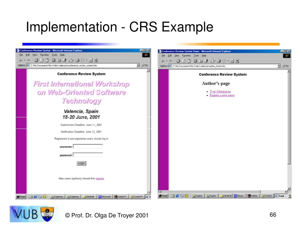 Implementation - CRS Example