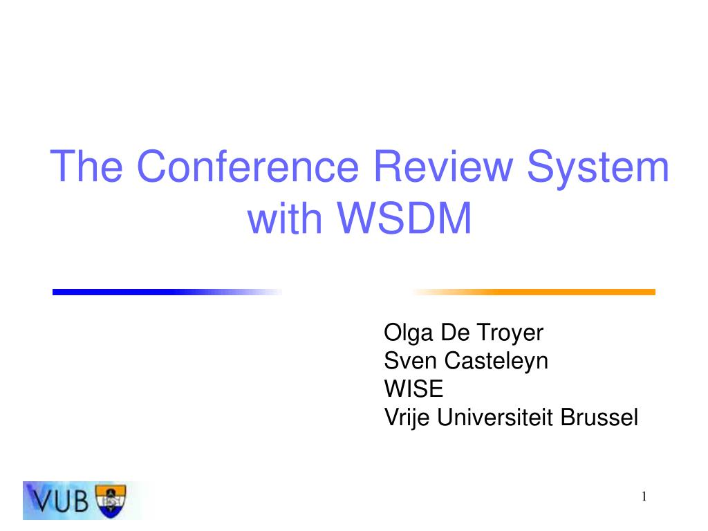 the conference review system with wsdm l.