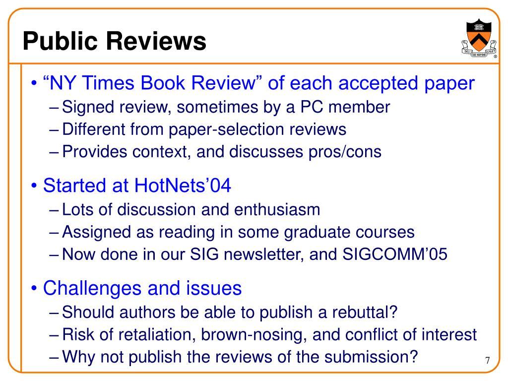 Public Reviews