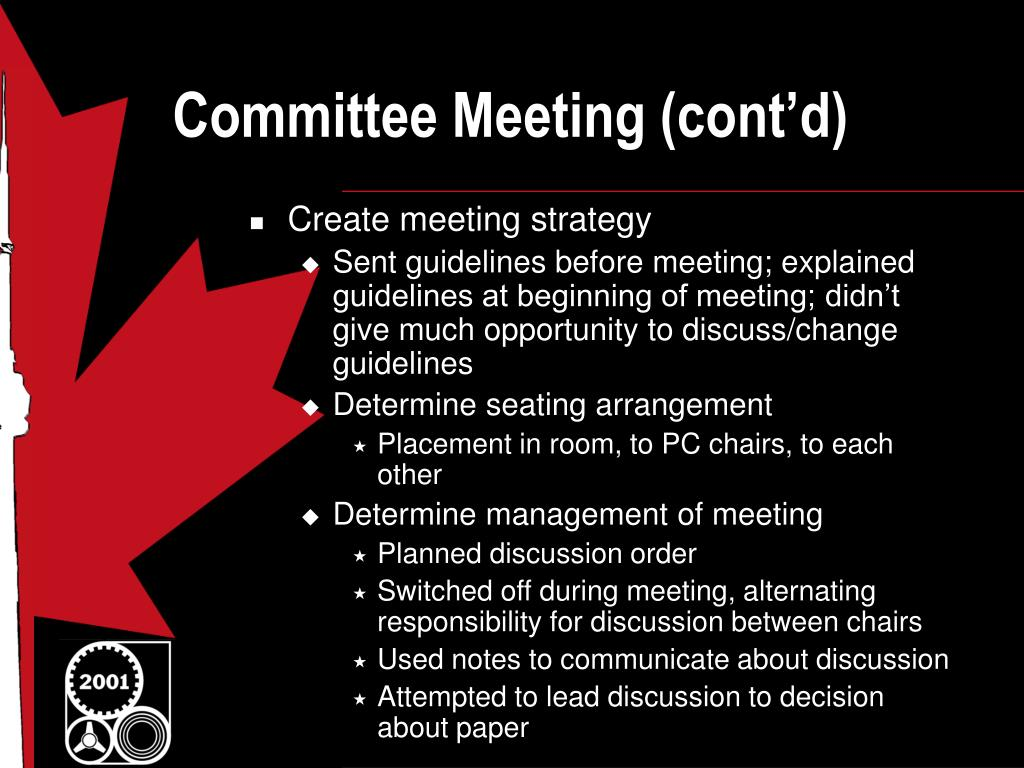 Committee Meeting (cont'd)