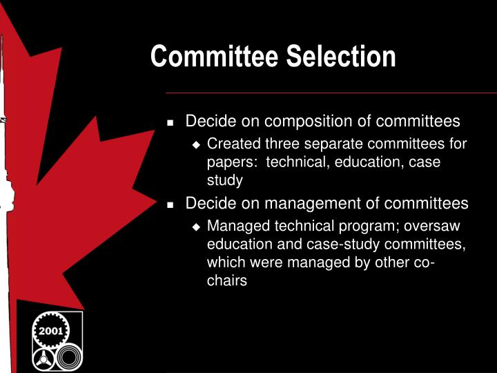 Committee selection