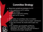 committee strategy