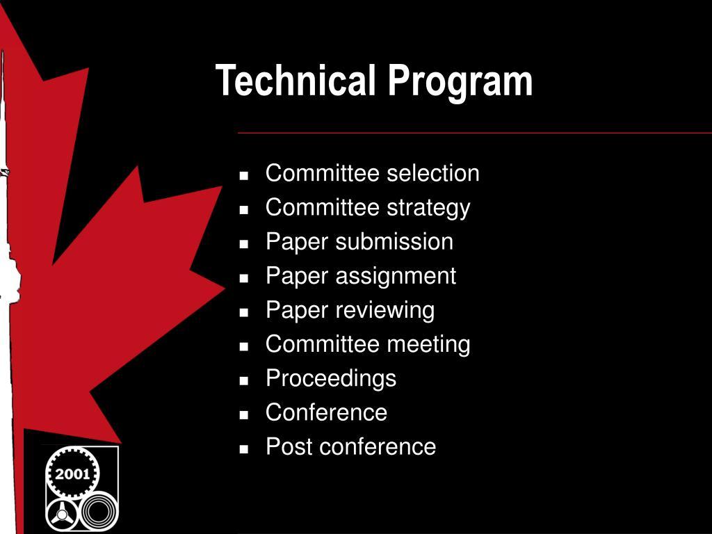 technical program l.