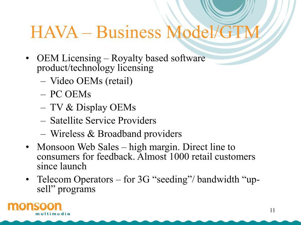 HAVA – Business Model/GTM