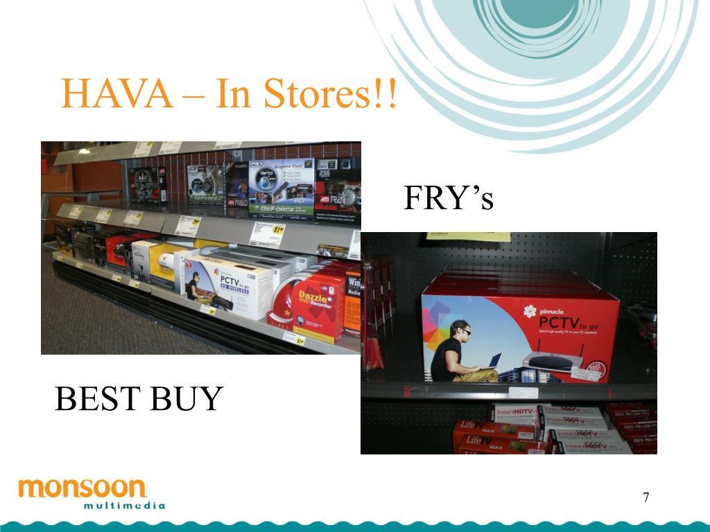 HAVA – In Stores!!