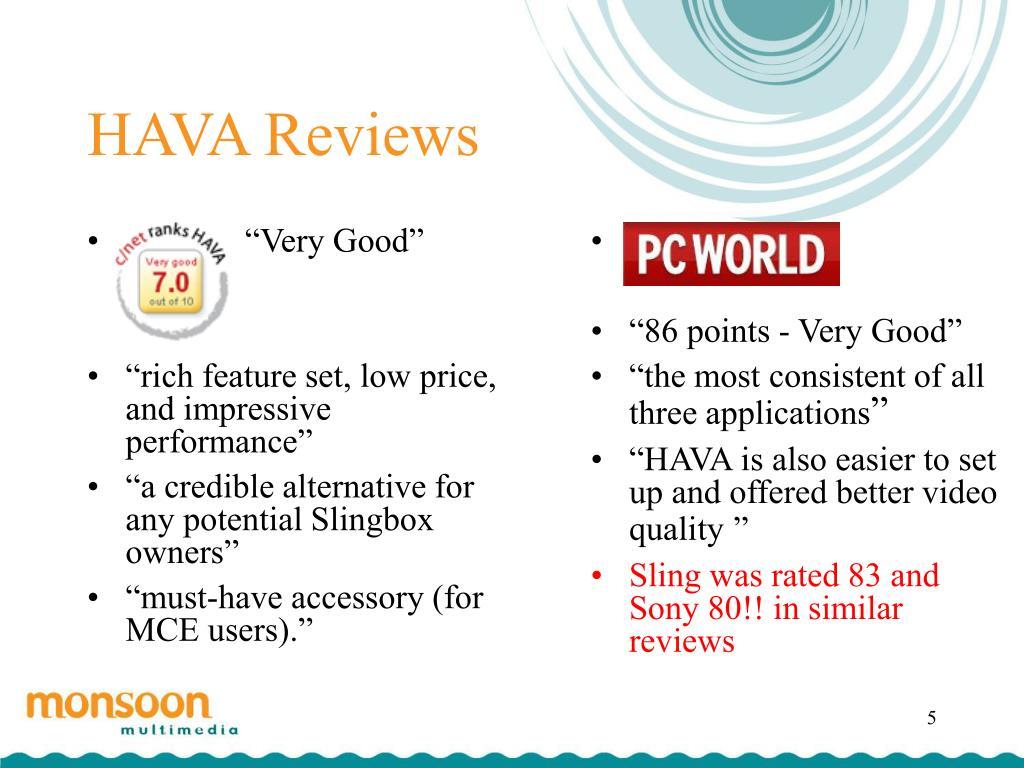 HAVA Reviews