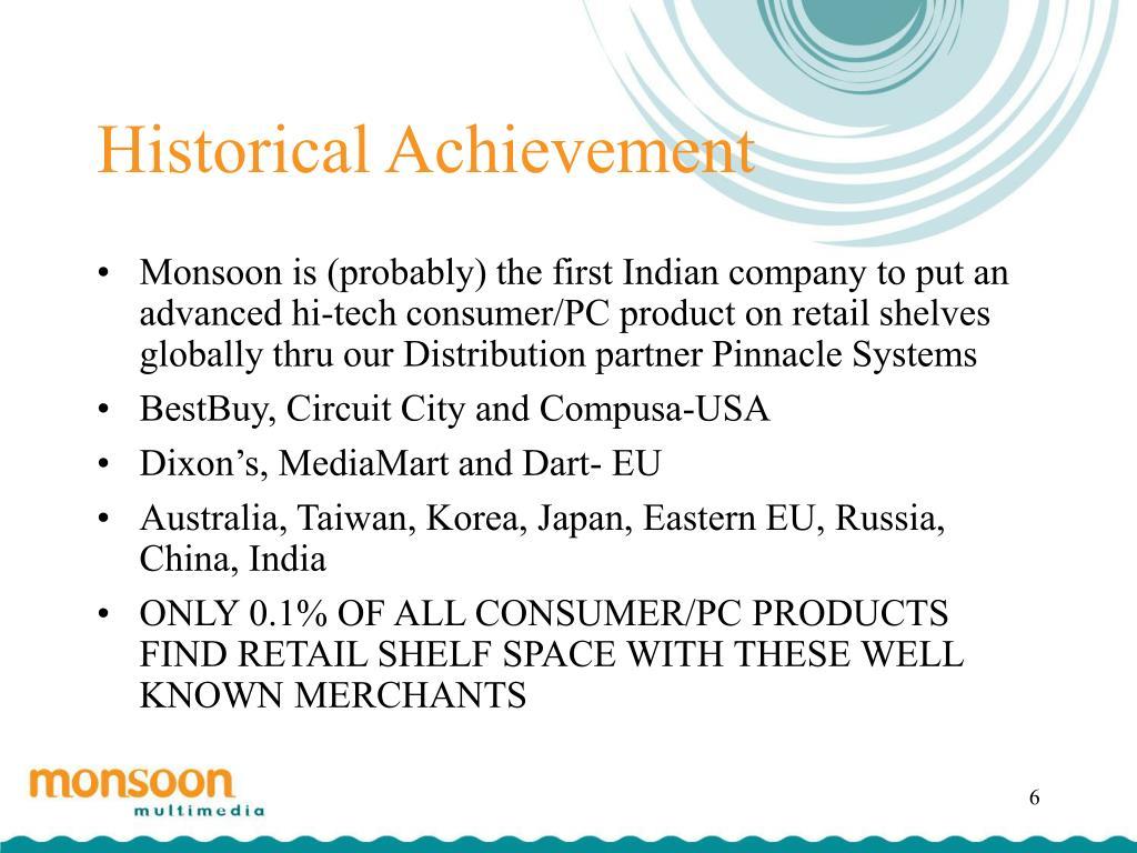Historical Achievement