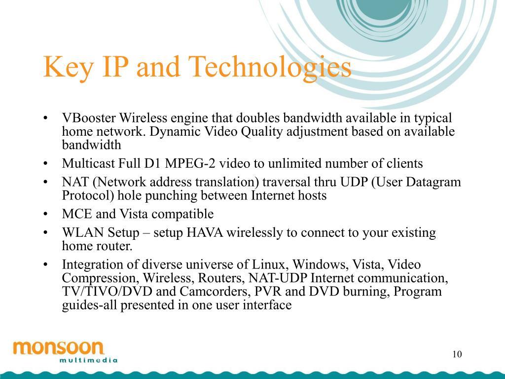 Key IP and Technologies