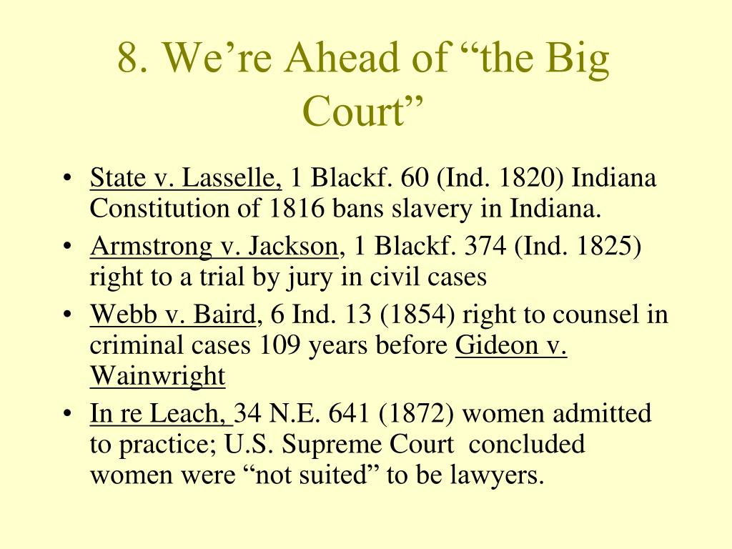 """8. We're Ahead of """"the Big Court"""""""