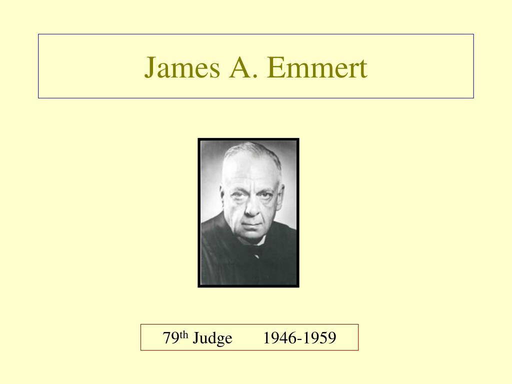 James A. Emmert