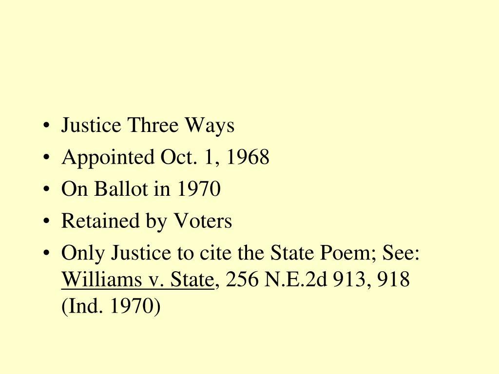 Justice Three Ways