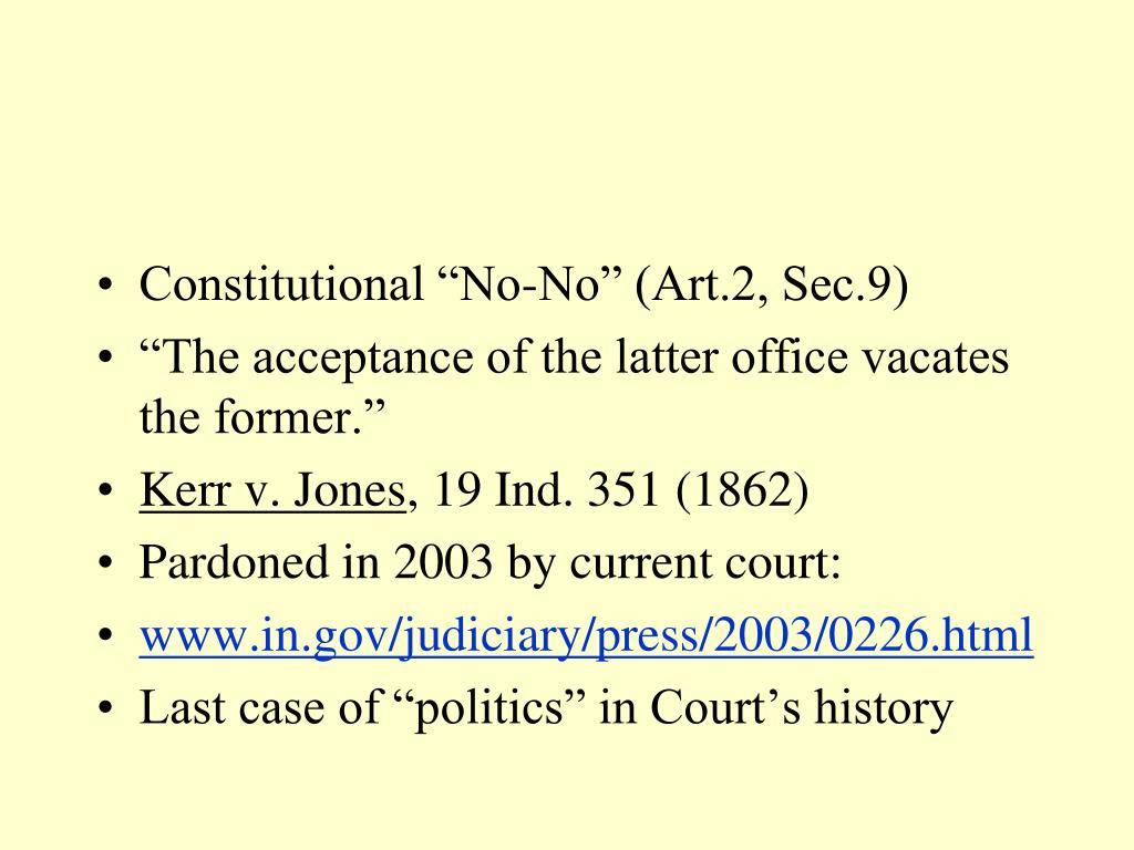"""Constitutional """"No-No"""" (Art.2, Sec.9)"""