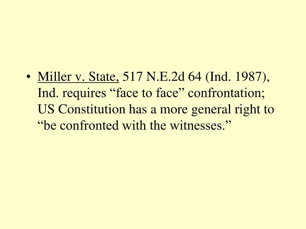 Miller v. State,