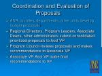 coordination and evaluation of proposals23
