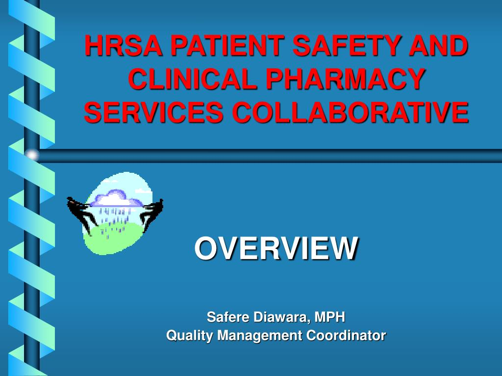 hrsa patient safety and clinical pharmacy services collaborative l.