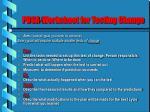 pdsa worksheet for testing change